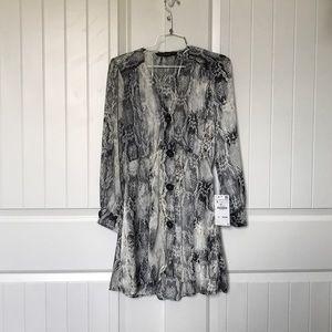 NWT Zara snakeskin dress